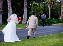 Bride and Groom Departing