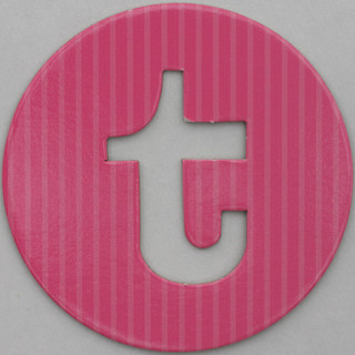 coloured card disc letter t | by Leo Reynolds