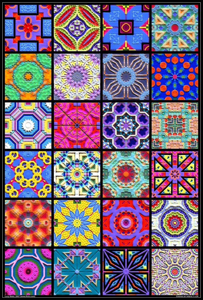 mosaico colores en relieve 1 a 24 2007 mosaico de