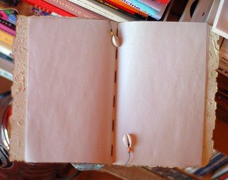 open recycled paper journal | by sew liberated