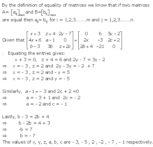 RD Sharma Class 12 Solutions Chapter 5 Algebra of Matrices Ex 5.1 Q14