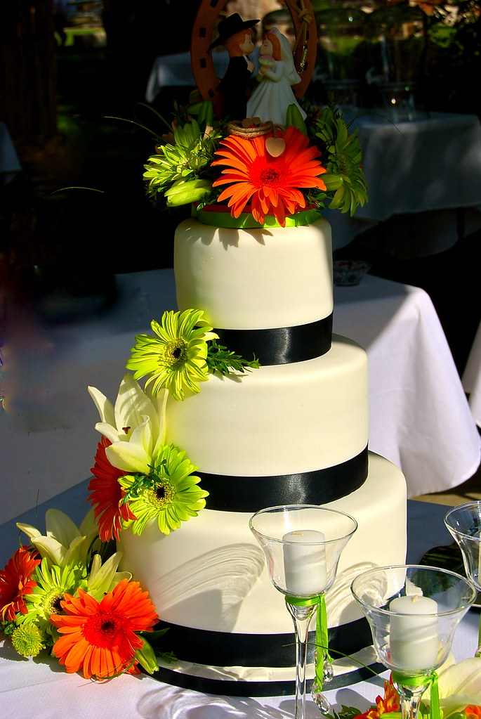 lime green and orange wedding cakes orange lime green and black wedding cake 3 tier 16898