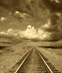 Railway Track in Sepia | by Hank Conner