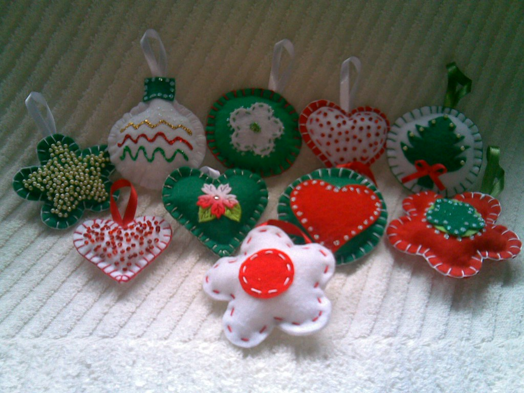Artesanato Tecido Franzido ~ Mimos de Natal Feltro Enfeites em feltro  Flickr
