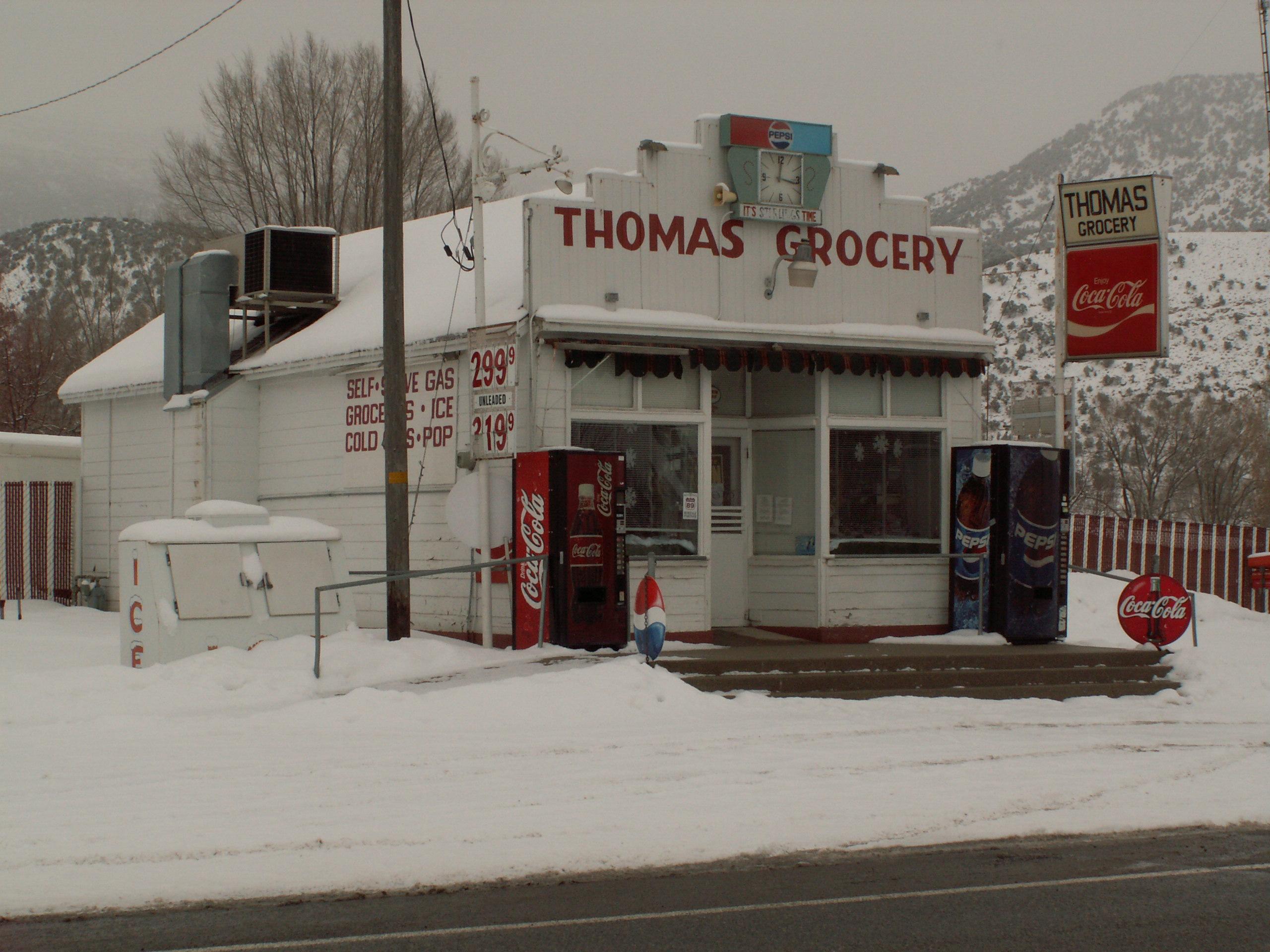 Thomas Grocery - 95 South Main Street, Sterling, Utah U.S.A. - February 1, 2008