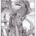 Sargasso Lizard - In the course of their voyages, the heroes come across a tribe of primitive lizards who seem much affected by the power of song.