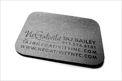 Negativity Business Card - Back | by Editorial Pinch