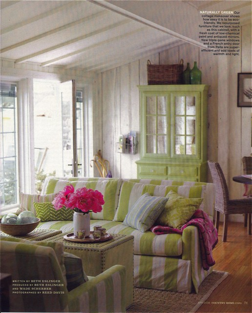 Country Home April 2008 | This shade of green really works ...