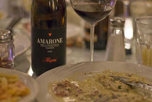 Allegrini Amarone with Veal in cream