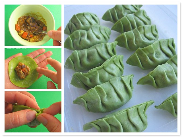 Curry gyoza tutorial | Make gyoza potstickers filled with le ...