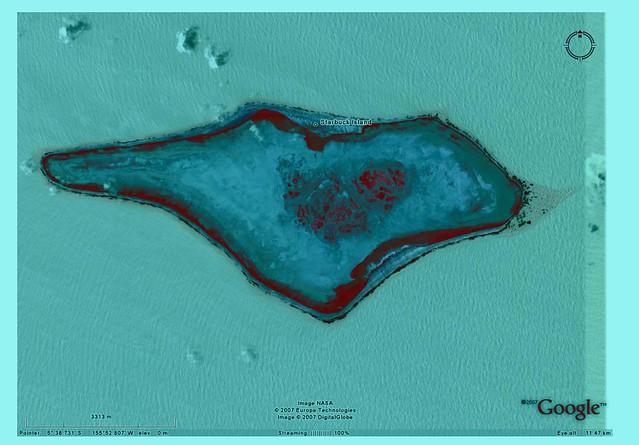 Starbuck Island Digitalglobe Image From Google Earth Fa