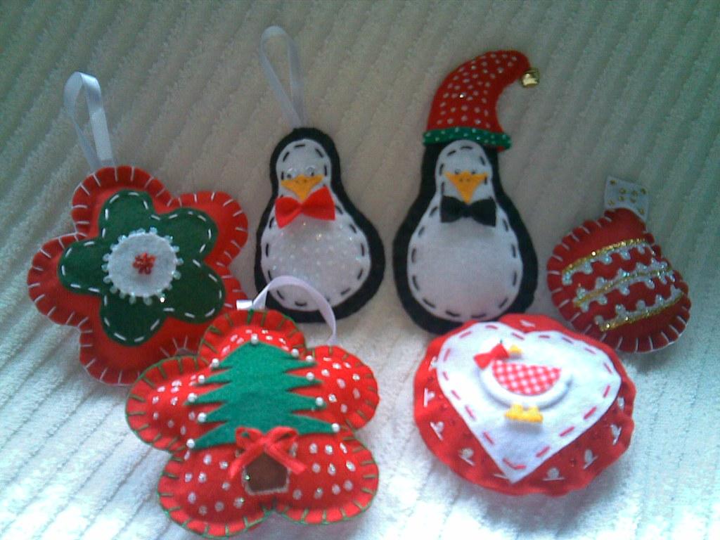 Artesanato Sustentável O Que É ~ Mimos de Natal Feltro Enfeites em feltro párvore ou dec u2026 Flickr