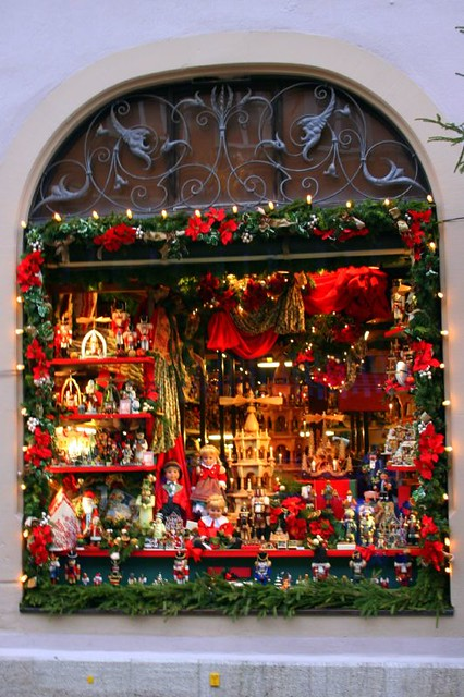 Rothenburg christmas window one of many beautiful store for The christmas shop