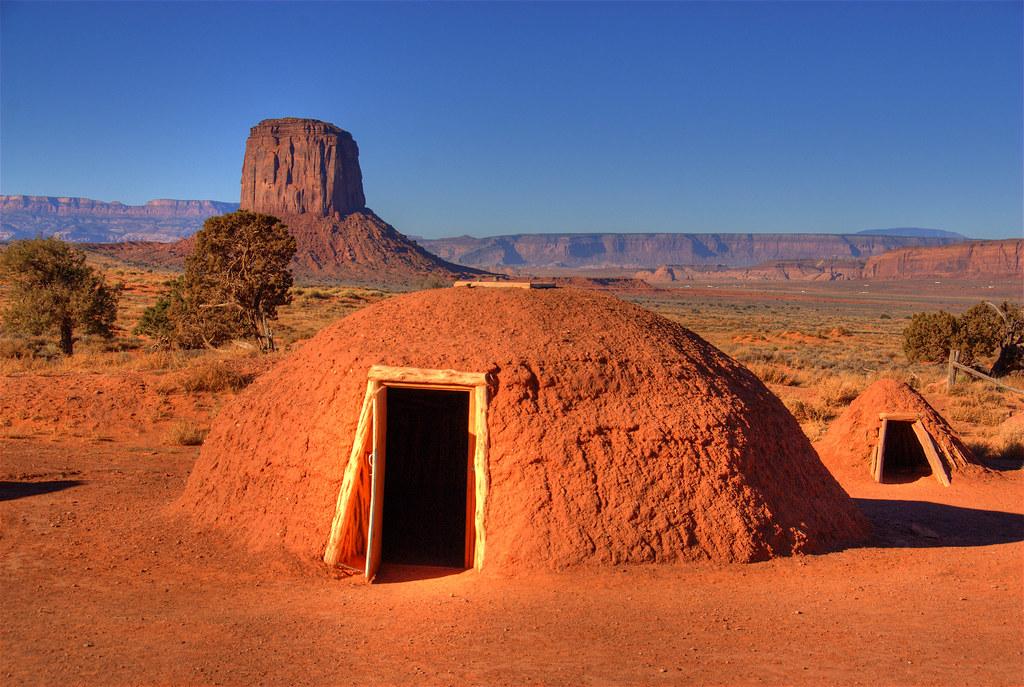 Hogan mucky house monument Valley Navajo USA America North America ...