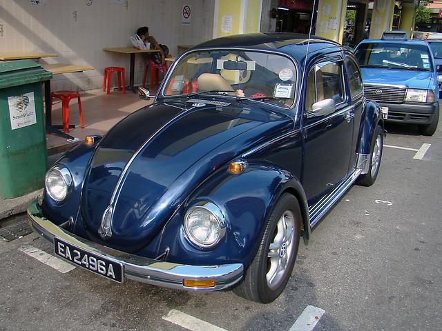 metallic dark blue VW beetle bug I | lash tan | Flickr