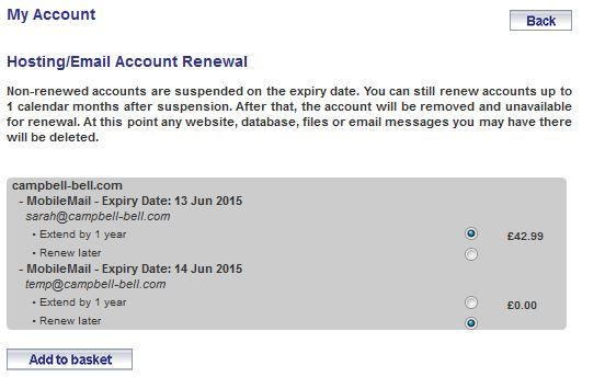 email renewal 2