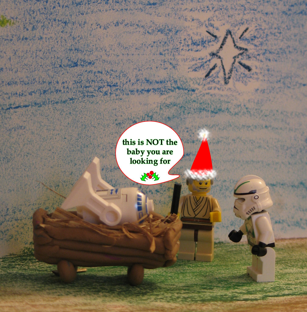 Lego Star Wars faux nativity scene Christmas Card 2007: ta… | Flickr