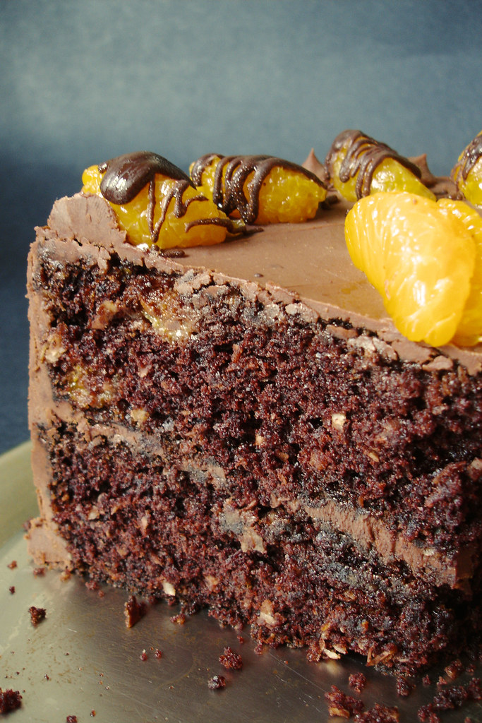 Carrot Chocolate Cake With Crumb Topping