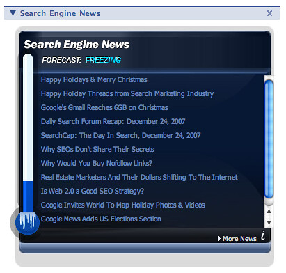 Search News Facebook Freezing | by rustybrick