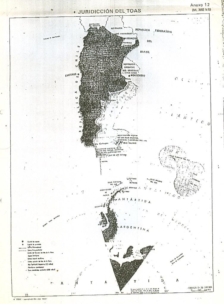 mapa del toas  teatro de operaciones atl u00e1ntico sur