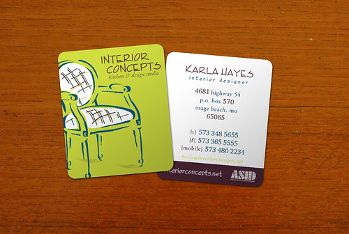Interior concepts business card design business card - Business name for interior design company ...