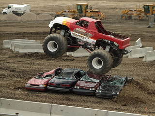 Monster truck jumps cars | by Sheree (Here intermittently)