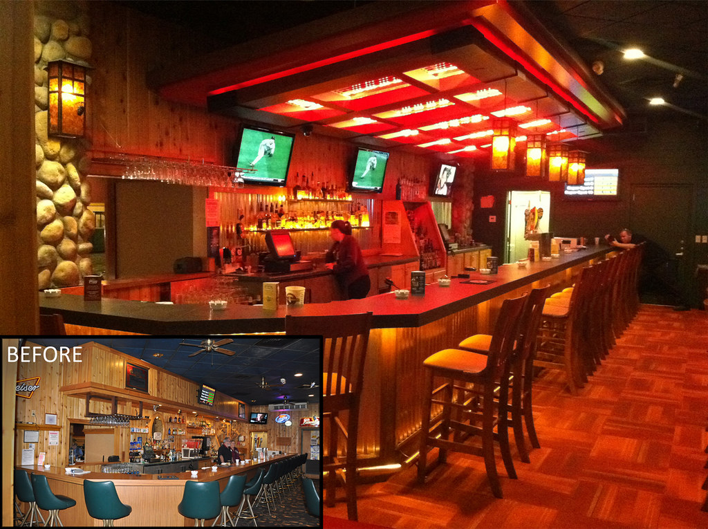 Interior casino bar remodel decor desig