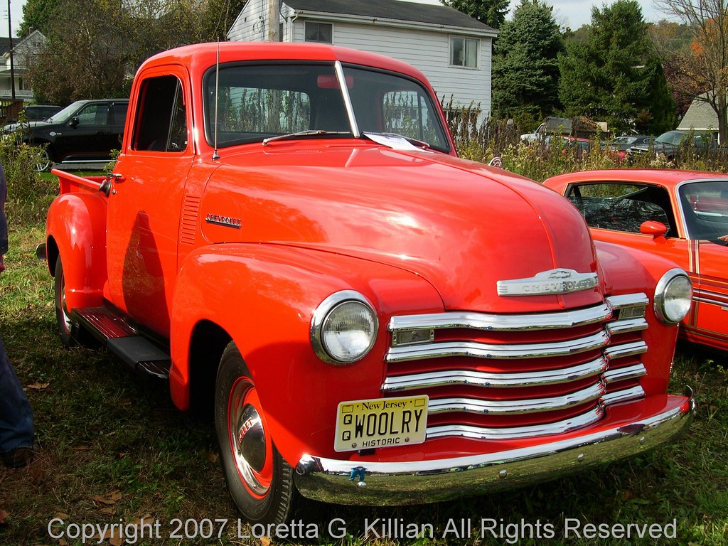 50s Chevy Truck >> Early 50s Chevy Step Side Pickup Truck | Fire Engine Red---C… | Flickr