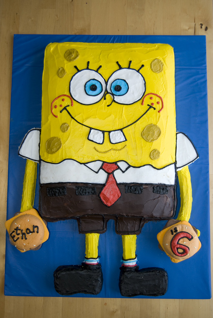 Spongebob Squarepants Cake Decorating Ideas