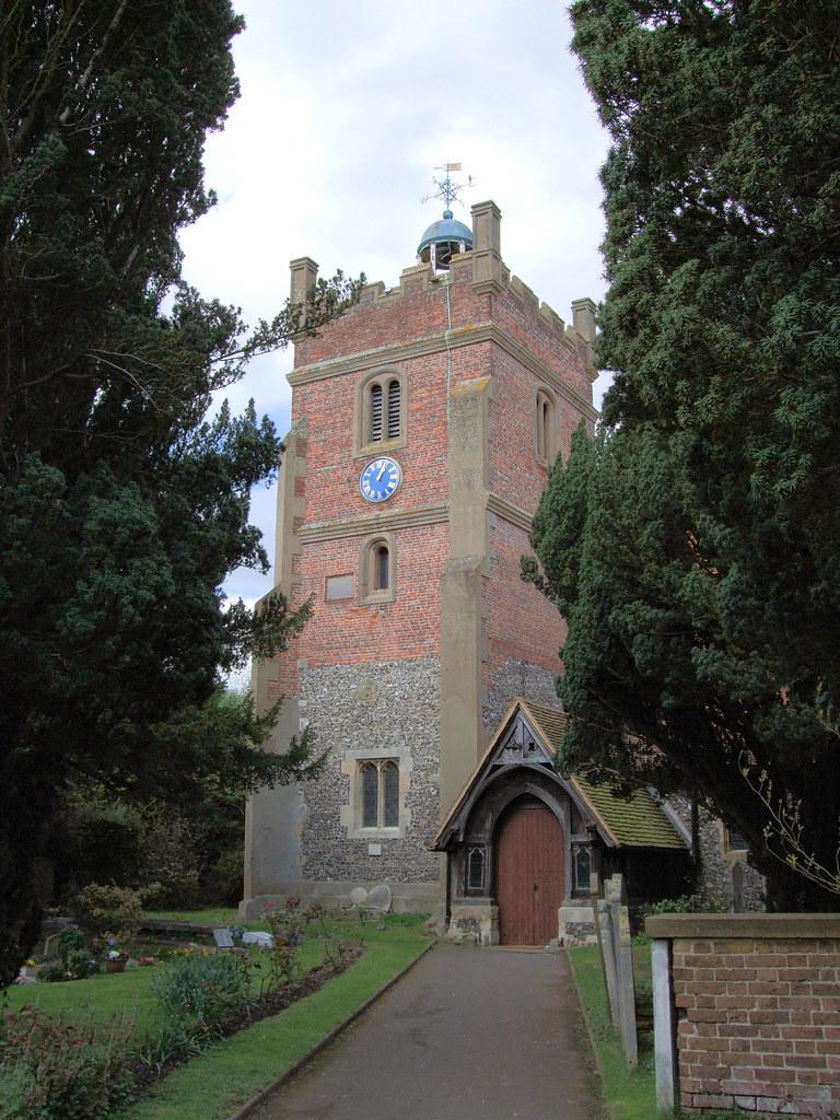St Mary the Virgin Church, Harmondsworth, London.  The ...