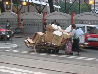 Cardboard trolley pusher | by Skype Nomad