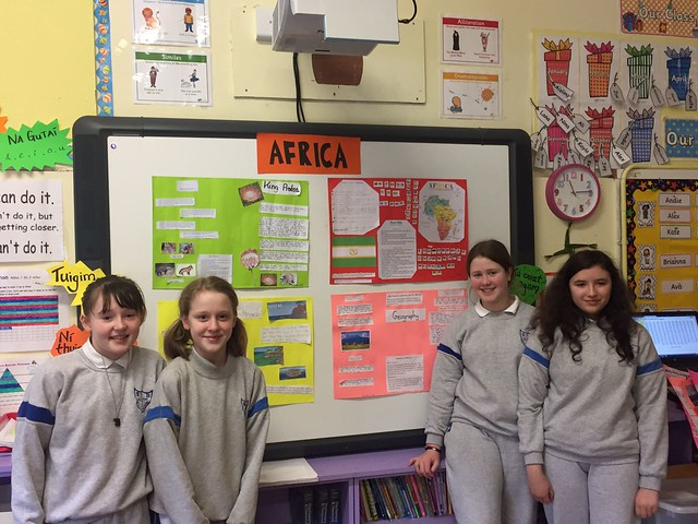 5th Class Present their Projects on the Continents