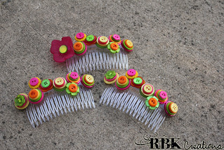 Bridesmaid Button Hair Comb | by rbkcreations