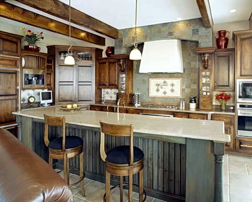 Transitional Kitchen Island