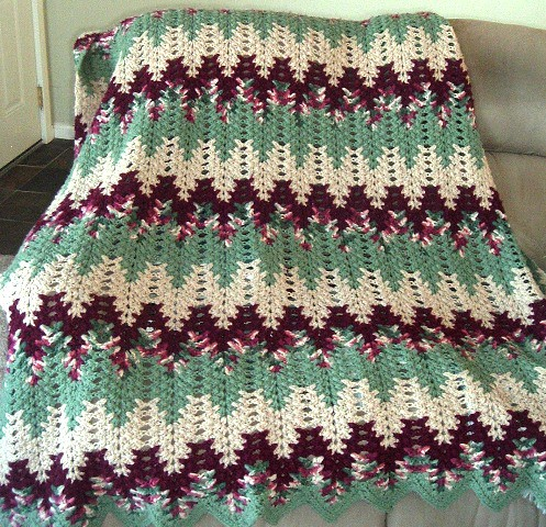 Lacy Chevron Afghan 1st This Is The First Lacy Chevron Afg Flickr