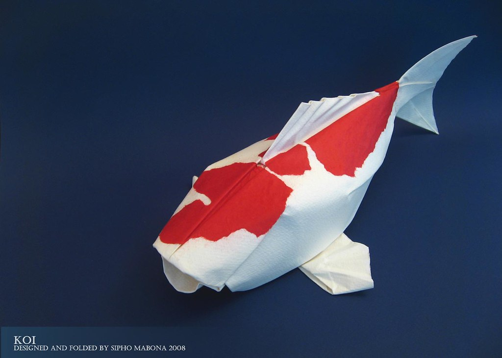 Koi aquarell paper rendition and yet another koi this for Origami koi fish