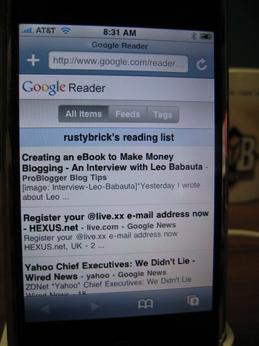 New Google Reader iPhone | by rustybrick