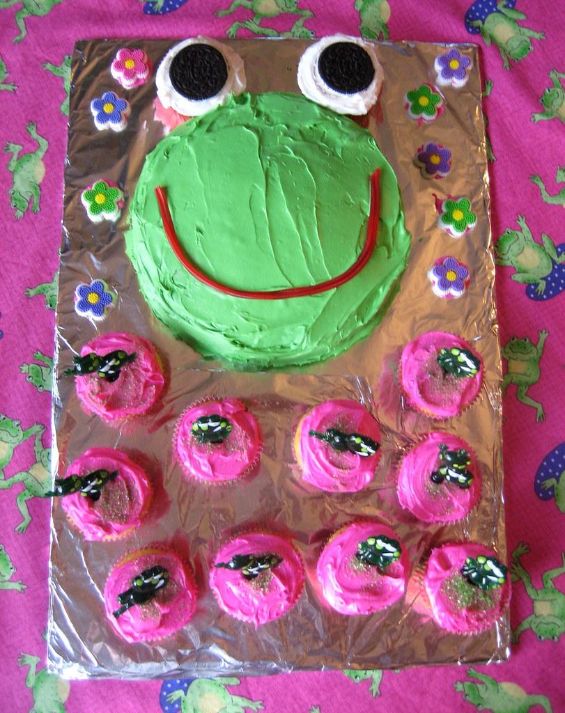 Frog Birthday Cake Frog Theme Birthday Ideas Janet Flickr
