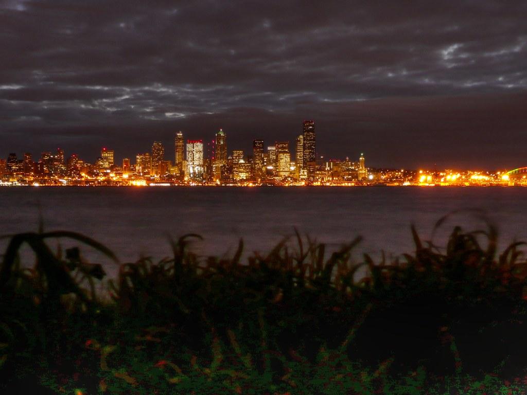 Puget Sound Just Before Dawn Seattle Washington At Night Flickr
