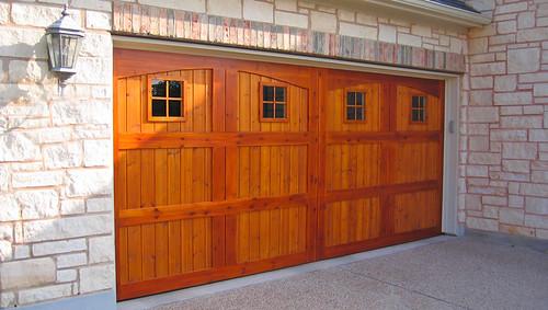 Custom Cedar Garage Door With Special Two Tone Stain Flickr