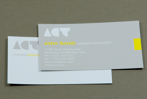Sustainable architecture business card sustainable for Sustainable business cards