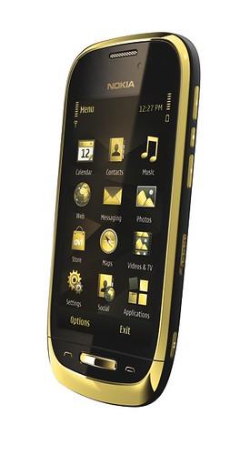 nokia c7 oro noir style design ce mobile tout en. Black Bedroom Furniture Sets. Home Design Ideas