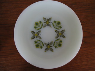 Anchor Hocking Meadow Green Plates | by Peacock Modern
