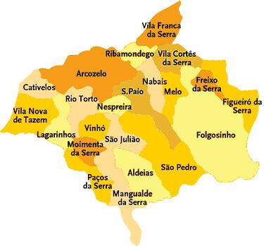 gouveia mapa portugal Concelho de Gouveia   Portugal | Mapa das freguesias | Jorge  gouveia mapa portugal