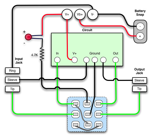 3pdt True Bypass Wiring Diagram