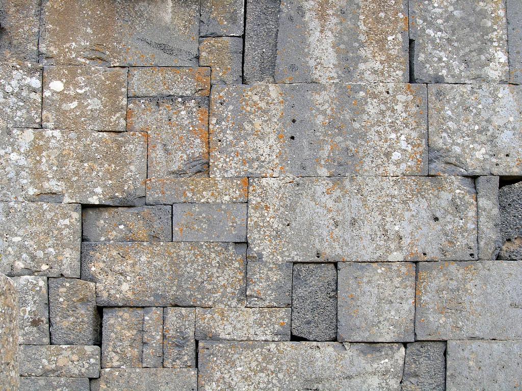 Black Basalt Wall Qanawat Syria Easter  Stone Wall Flickr