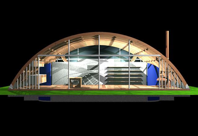 Casa arco img 01 casa arco estructura de madera laminada - Estructuras de madera laminada ...