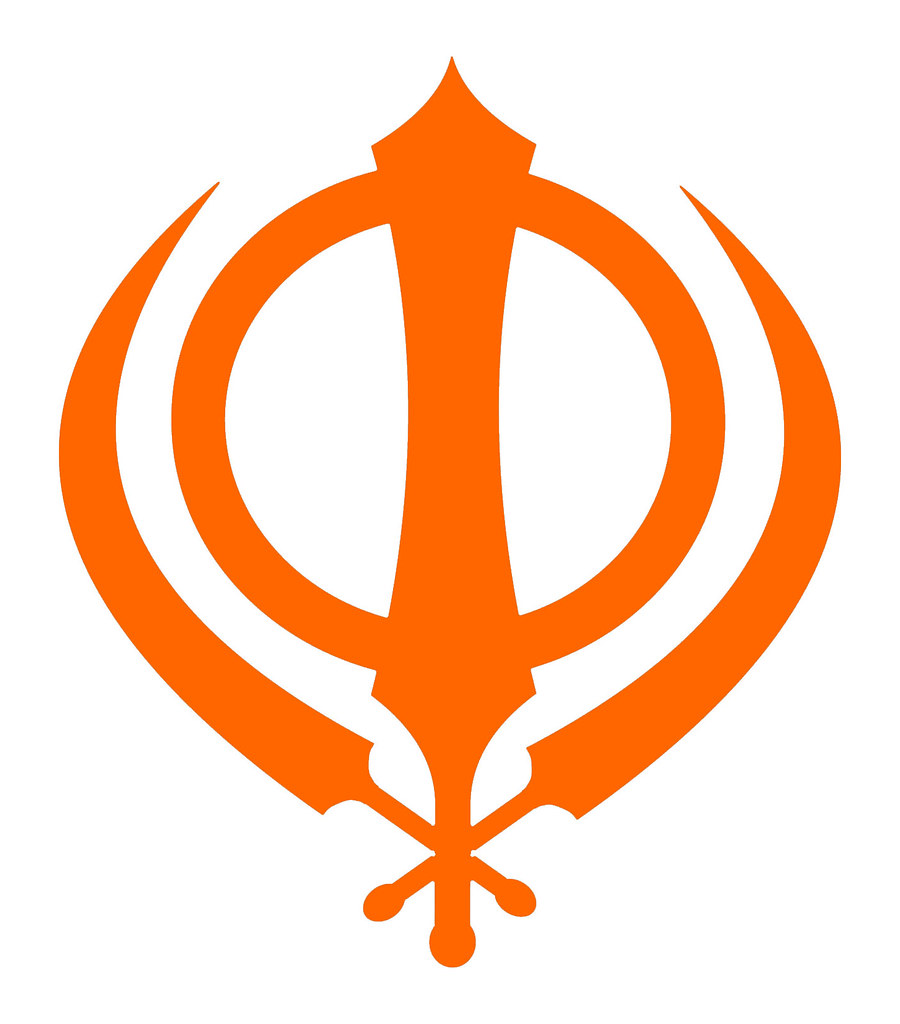 Sikh symbol - simple orange Khanda | The Insignia of the Kha… | Flickr