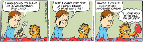 Image result for Garfield Valentines Day