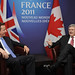 David Cameron holds bilateral talks with his Canadian counterpart Stephen Harper